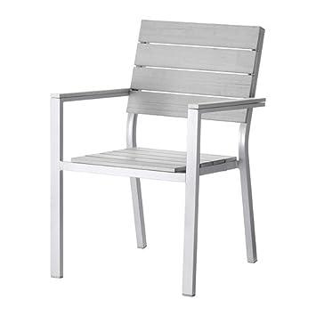 Ikea Falster Stuhl Mit Armlehnen Grau Amazon De Kuche Haushalt