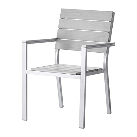 IKEA FALSTER   Chair With Armrests, Grey