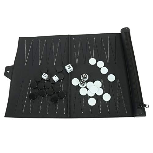 Gojiny Juego de Tablero de Ajedrez Plegable Juego de Tablero de Ajedrez Portátil Juguete de Backgammon de Ajedrez de…