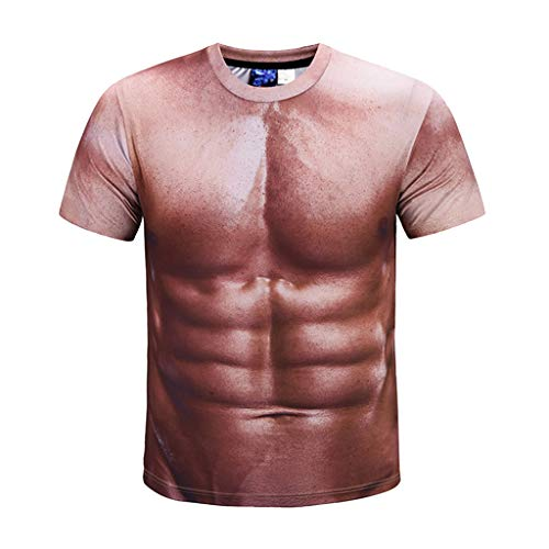 Gibobby Unisex Holiday Shirts Rude Stag Muscle Fancy Funny Dress 3D Offensive Boobs Slim Fit Printed Tee Tops for Party by Gibobby_Shirt (Image #6)