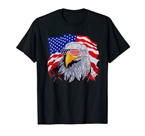 Patriotic Eagle T-Shirt 4th of July USA American Flag Tshirt T-Shirt