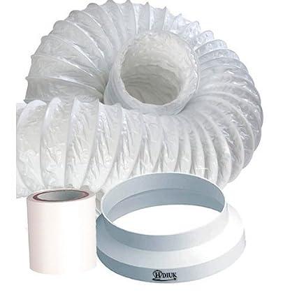 HDIUK 3m 9u0026quot;10u0027 Portable Air conditioner Exhaust vent duct extension kit Increase  sc 1 st  Amazon.com & Amazon.com: HDIUK 3m 9