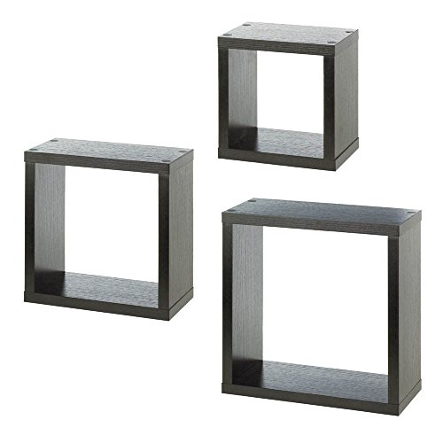 Paint Finish Pendants (Modern Style Shelves Square Floating Wall Cubes Dark wood Finish Accent Decor)