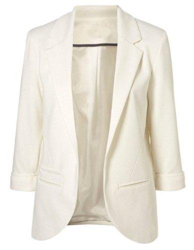 Sheinside Women's Boyfriend Blazer Tailored Suit Coat Jacket