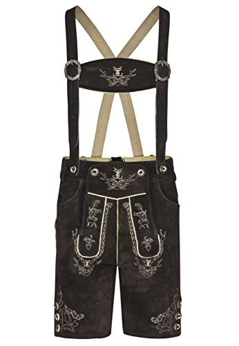Schöneberger Trachten Couture Men Alpenjäger Lederhosen Oktoberfest Leather Shorts Pants (44