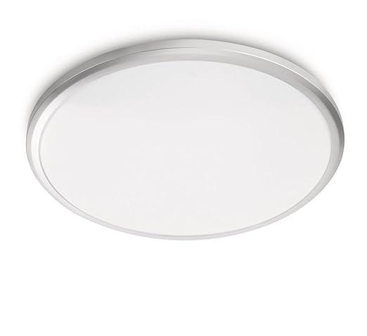 65 opinioni per Philips 308048716 Twirl Plafoniera LED, 3000 K, Diametro 29 cm, Grigio