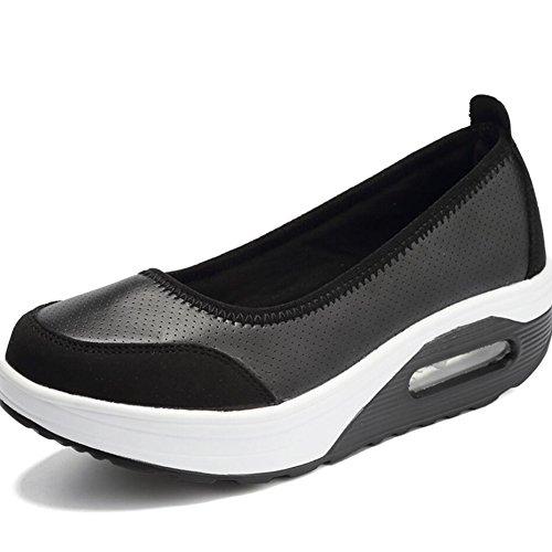 XUE Zapatos de Mujer Mesh Spring Fall Mocasines y Slip-Ons Zapatos de Conducción Fitness Shake Zapatos Sacudir Zapatos Sacudir Zapatos Flat Mocasines Sneakers Zapatos Deportivos Zapatos de Plataforma F