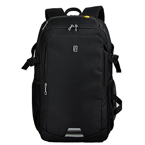 kinokoo Business Rucksack Notebook Computer Rucksack Wasserdicht und Burglarproof Intelligente Rucksack schwarz(L)