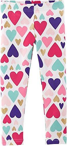 Carter's Girls' 2T-8 Pull-on Leggings (Multi Color/Hearts, 2T)]()