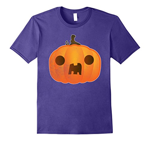 Hilarious Homemade Halloween Costumes (Mens Boo ! Pumpkin Funny Halloween Costume TShirt Trick Or Treat 2XL Purple)