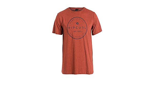 RIP CURL Zinc tee Camiseta, Hombre, Rojo (Rusty Brass Mar), S ...