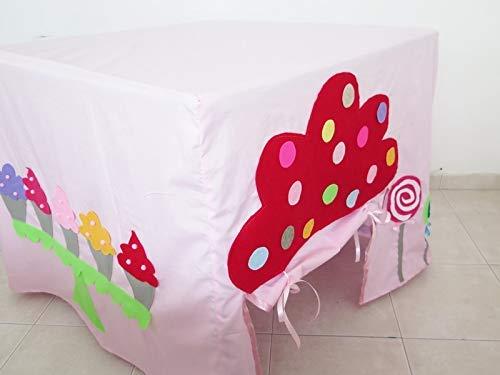 Kids Play Tent , Handmade Card Table Playhouse , Kids Pink Candy Cupcake Gumball Machine Playhouse