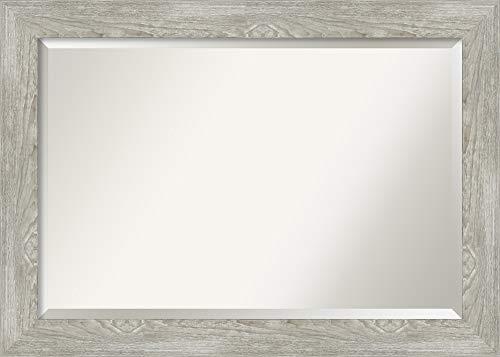 Amanti Art Framed Vanity Mirror | Bathroom Mirrors for Wall | Dove -