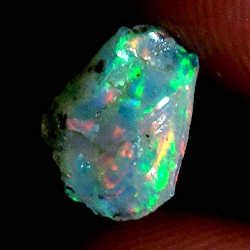 GEMSCREATIONS Ethiopian Opal 100% Natural Jumbo Mutli Fire Opal Rough Rare Gemstone 01.00Cts. ()