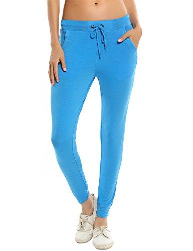 Ekouaer - Pantalón deportivo - para mujer Azul