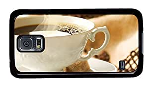 Hipster Samsung Galaxy S5 Case stylish cover cup black coffee PC Black for Samsung S5