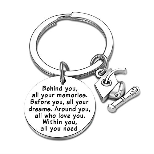Graduation Gifts for Son Daughter Behind You All Memories Before You All Your Dream Graduation Keychain Graduate Inspirational Gifts for Him/Her