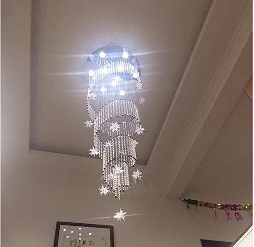 ZHEN Espiral moderna K9 Cristal Led Luces de techo Escalera grande ...