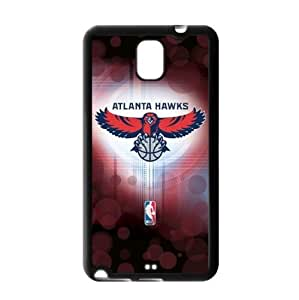 Atlanta Hawks Logo Theme TPU Back Case for Samsung Galaxy Note 3-by Allthingsbasketball
