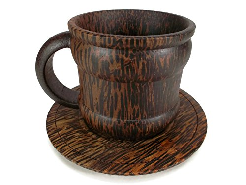 Wood Tea Cup Handmade Sugar Palm Color Mug Palm Wood Morning Tea Tools Drink Glass Serving