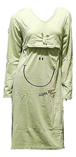 Camisa de noche Lactancia Verde