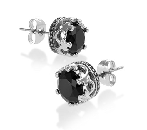 Authentic Vintage Stainless Earrings Silver