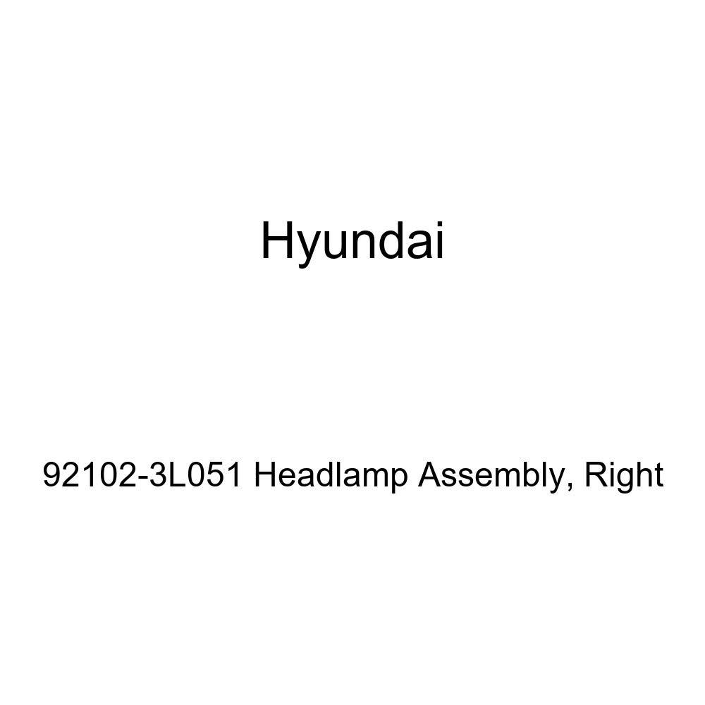 Right Genuine Hyundai 92102-3L051 Headlamp Assembly
