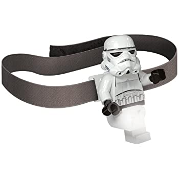 LEGO Star Wars Stormtrooper Head Lamp - LED Head Lamp w/ Elastic Headband