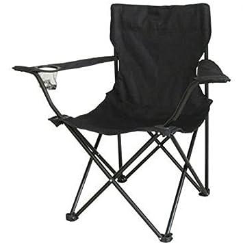 Nuevo Negro plegable Camping silla de pesca plegable playa ...