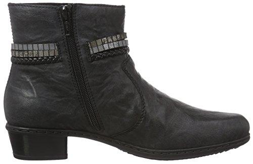 Negro schwarz schwarz RiekerY0758 Mujer argento Schwarz oro 00 botas 4xEZwqHT