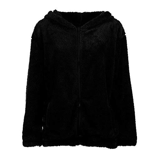 Clearance Duseedik, Hot Sleeve Girl Winter Loose Snapper Hoodie Rugged Jacket Cute Sweater Hoodie