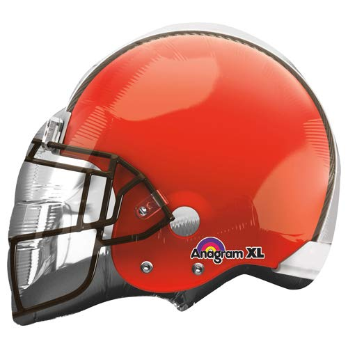 "Anagram 26285 NFL Cleveland Browns Football Helmet Foil Balloon, 21"", Multicolored"