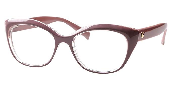 bf8608eb50d5 SOOLALA Womens Mens Spring Hinged Reading Glass Prescription Eyeglass Frame