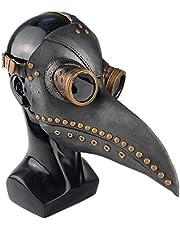 Forart Plague Doctor Bird Mask Long Nose Beak Cosplay Retro Steampunk Props for Halloween Costume Props