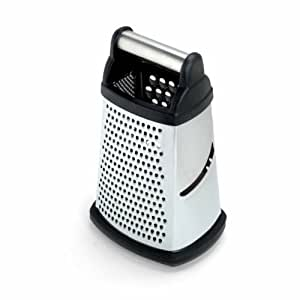 Most Popular Cheese Grater - KitchenAid Stainless Steel 4-Sided Food Grater With Storage Container For Hard Cheeses, Vegetables, Chocolate, Ginger, Nuts, Zesting Lemons, Limes and Oranges  - Perfect For Everyday Cooks - Black