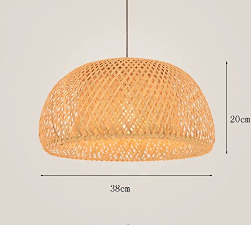 Rattan Pendant Lamp (Simple Chandelier Nordic Restaurant Lights Led Bamboo Art Rattan Weaving Pendant Lamps)
