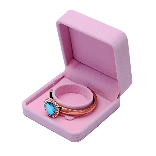 2DXuixsh Wedding Jewelry Sets Velvet Box Necklace Earring Ring Display Case Storage Holder Jewellery Gift Boxes (C, Pink)