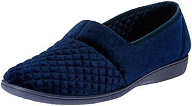 Grosby Women's Marcy 2 Slippers, Deep Navy, 5 US