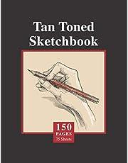 Tan Toned Sketchbook: 150 Large 8.5in x 11in (22x28 cm) Cream Paper Notebook