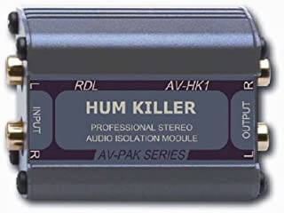 RDL AV-HK1 Stereo Audio Isolation Module 20 Hz to 20 kHz Frequency Response, Filters Noises
