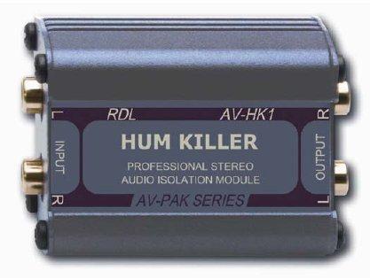 RDL AV-HK1 Stereo Audio Isolation Module 20 Hz to 20 kHz Frequency Response, Filters Noises by RDL