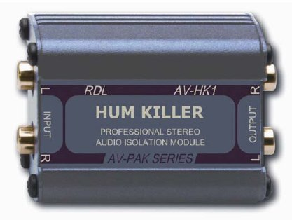 RDL AV-HK1 Stereo Audio Isolation Module 20 Hz to 20 kHz Frequency Response, Filters Noises