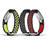 Jobese Compatible with Alta & Alta Hr & Ace Bands, (3 Pack) Two-Tone Soft Breathable Bands Compatible with Alta/Alta Hr/Ace Silicone Replacement Wristbands Women Men