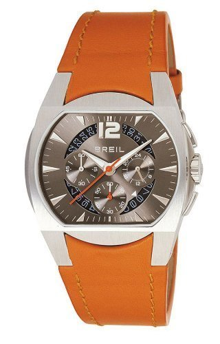 Breil BW0102 Wonder Men's Analog Chronograph Date Orange Leather Watch