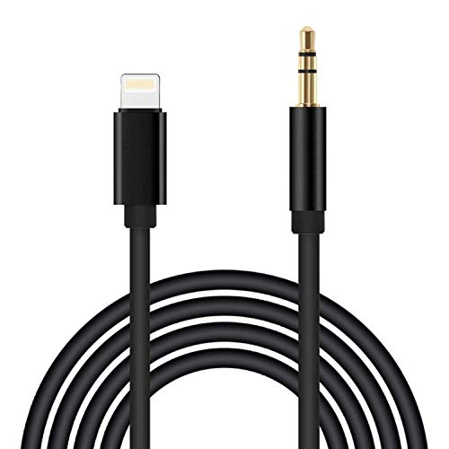 (Apple MFI Certified) 3.3ft Long Lightning to 3.5mm Aux Cord Audio Jack Adapter, MP3 Car Cable Audio Line AUX, Car Aux Cable Audio Line Car Stereo for iPhone XR/XS/XS Max/X/8/8Plus/7/7 Plus (Aux Cable Car Stereo)