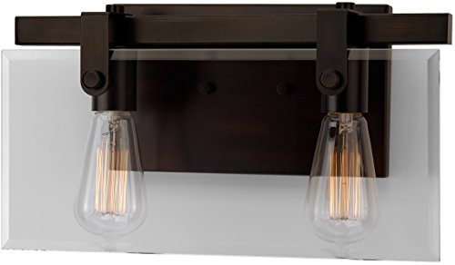 Luxury Modern Farmhouse Bathroom Vanity Light, Medium Size: 8.38'' H x 14.875'' W, with Industrial Chic Style Elements, Olde Bronze Finish, UHP2452 from The Bristol Collection by Urban Ambiance by Urban Ambiance