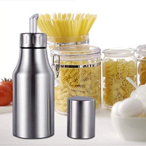 HQGOODS Oil Dispenser,Stainless Steel Olive Oil/Vinegar/Sauce Cruet Oil Bottle Edible Oil Container Pot - Non drip Pouring Spout(33 oz/1000ML) by HQGOODS (Image #7)