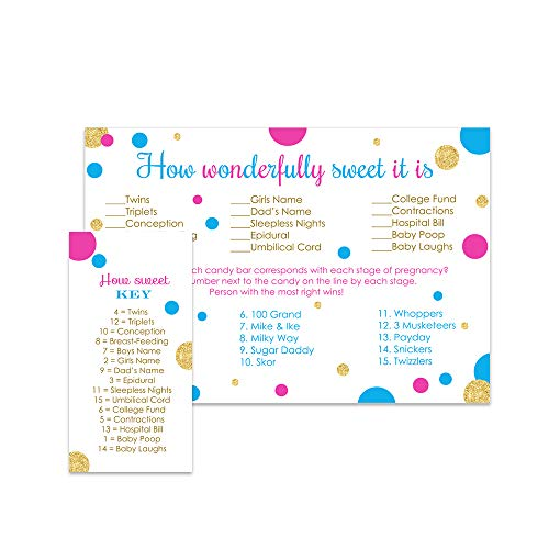 How Sweet It Is Gender Reveal Party Game - Set of 25