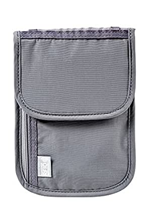 Wenger 604589 Neck Wallet with RFID Protection Pocket, Grey, 19 Centimeters