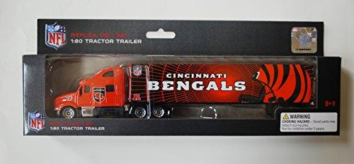 2011 Nfl Tractor Trailer - Press Pass 2011 NFL Tractor Trailer 1:80 Scale Diecast - CINCINNATI BENGALS